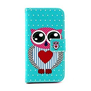 GOG- Mr Owl Pattern PU Leather Full Body Case with Stand for Samsung Galaxy S5 Mini G800