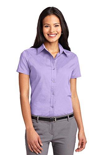 Port Authority L508 Ladies Short Sleeve Easy Care Shirt - Bright Lavender - XXL