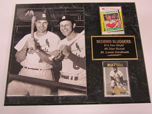 - Stan Musial Ken Boyer St Louis Cardinals 2 Card Collector Plaque w/8x10 Photo
