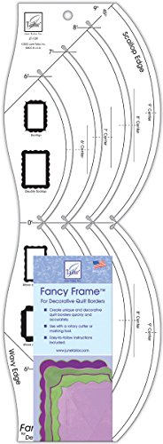 June Tailor 18-Inch-by-6-1/2-Inch Fancy Frame Decorative Quilt Borders (Edge Ruler Decorative)