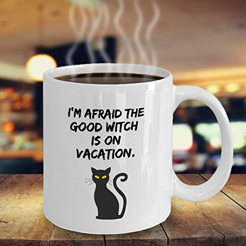 The Good Witch is on Vacation Funny Halloween Season mug spooky witches pumpkins fall autumn gift coffee mug