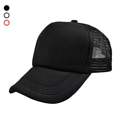 AStorePlus Classic Unisex Baseball Cap, Adjustable Size Ventilation Mesh Plain Cap Blank Trucker Hat Sun Hat, (Foam Classic Mesh Truckers Cap)