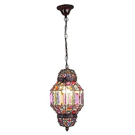 Lámpara colgante árabe de época musulmán 1 luz colorida luz ...
