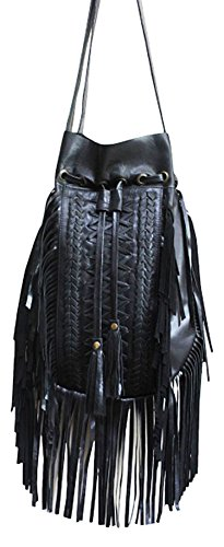 11sunshop BAG-ODELINA - Bolso de asas para mujer Negro negro M