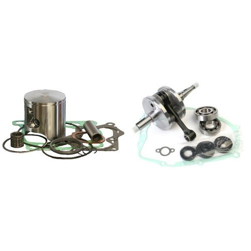 Piston Crankshaft Wiseco (Wiseco PK1089 66.00 mm 2-Stroke ATV Piston Kit with Top-End Gasket Kit and Wiseco WPC105 Crankshaft Assembly for Yamaha YFS200 Blaster Bundle)