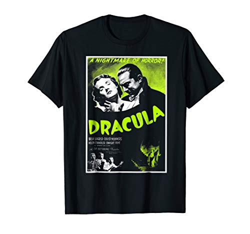 Dracula Lugosi Horror Movie Poster T-Shirt Vampire -