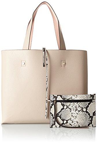 Calvin Klein Stef Reversible Tote, Bolsa para Mujer, 18x34x29 cm (b x h x t) Beige (Mushroom)