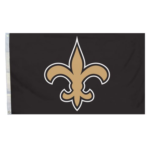 NFL New Orleans Saints Logo Only 3-by-5 Feet Flag with Grommetts