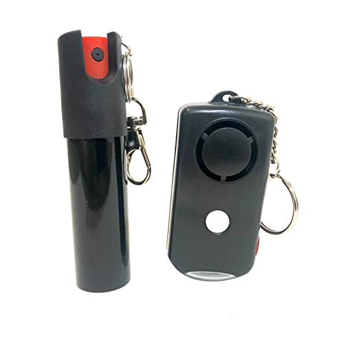 Personal Alarm and Pepper Spray Key Chain Bundle for Self Defense and Protection, Safeguard for Women, Men, and Children, Panic Button and Tear Gas, Safety from Rape and Muggers, Two Safety Devices (Best Personal Protection Pepper Spray)
