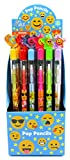 TINYMILLS 24 Pcs Emoji Multi Point Pencils