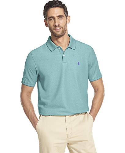 IZOD Men's Advantage Performance Short Sleeve Solid Heather Polo, Caneel Bay, Medium ()