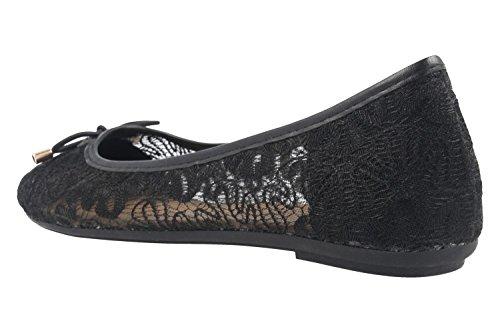 FITTERS FOOTWEAR - Tina - Damen Ballerinas - Schwarz Schuhe in Übergrößen