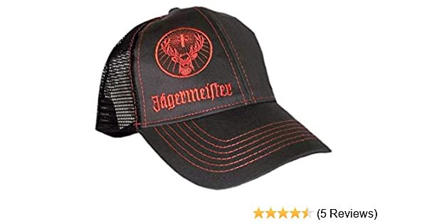 5f3dfc15bce Amazon.com   Authentic Jagermeister Charcoal   Orange Trucker Hat Cap  Adjustable Deer Logo   Sports Fan Baseball Caps   Sports   Outdoors