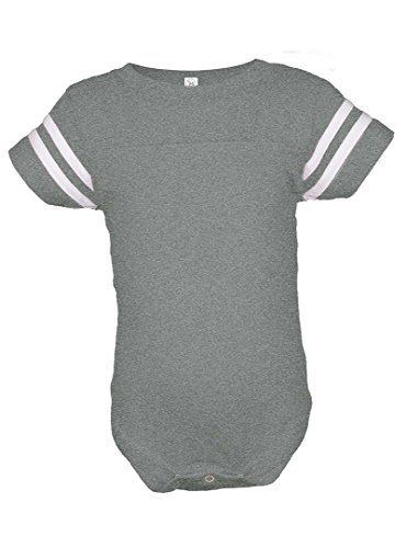 Infant Baby Boys or Girls Football Jersey Style Creeper / Onesie / Bodysuit / Snapsuit (24 mo., Athletic ()