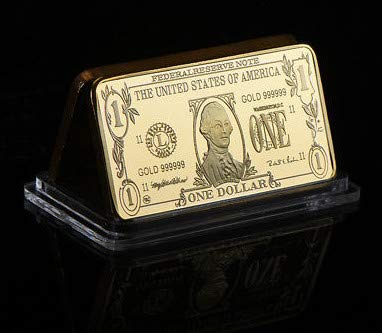 (2006 1 Ounce Gold Bar George Washington Gold Clad $1 Brilliant Uncirculated)