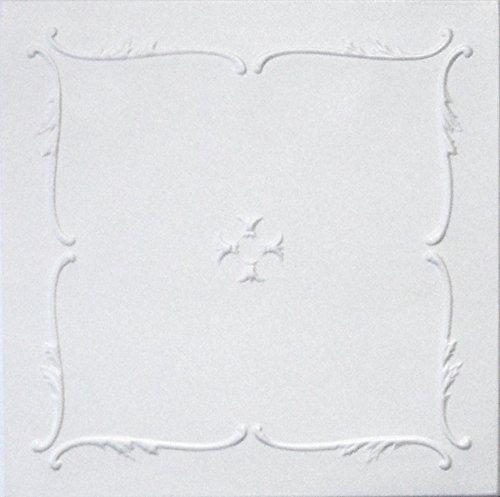 Styrofoam Glue Up Ceiling Tiles White 20x20 R5W Pack of 8
