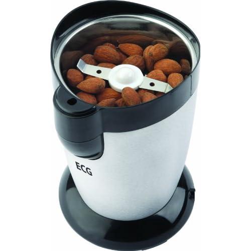 ECG KM 120, 120W, Capacité 50 g, Finition en acier inoxydable, Couvercle avec verrouillage fiable, Lame en acier inoxydable