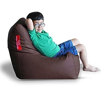 Strange Amazon Com Style Homez Premium Leatherette L Bean Bag Chair Caraccident5 Cool Chair Designs And Ideas Caraccident5Info