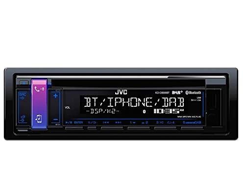 Antenne mit Einbauset f/ür Audi A1 JVC KD-DB98BT 1DIN Radio Bluetooth DAB ab 2010 8X