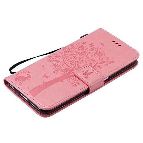 DaYiYang Case Cover 6s iPhone più il caso, solido Custodia in pelle colore PU Premium Embossing modello del basamento di vibrazione della copertura della cassa con Card e slot di cassa per il iPhone 6