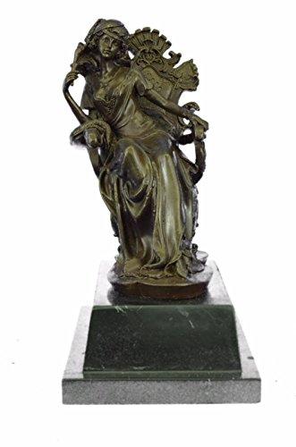 (Handmade European Bronze Sculpture SIGNED ORIGINAL RARE ART DECO ON MARBLE BASE FIGURINE Bronze Statue -UKXN-1050-Decor Collectible Gift)