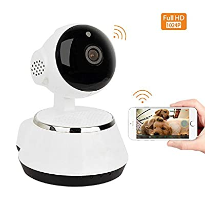 Home Security Camera, 1024P Wifi Dog Security Camera with Two-Way Audio, Motion Detection, Pan/Tilt, Wireless IP Surveillance Camera for Baby/Elder/Nanny/Pet Cat Monitoring