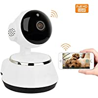 Home Security Camera, Easy Setup Wifi Dog Security Camera with Two-Way Audio, Motion Detection, Pan/Tilt, 1024P Wireless IP Surveillance Camera for Baby/Elder/Nanny/Pet Cat Monitoring