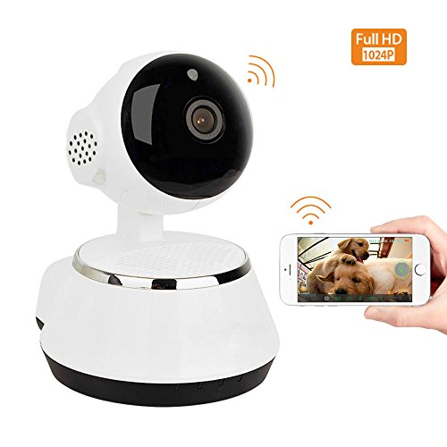 Home Security Camera, 1024P Wifi Dog Security Camera with Two-Way Audio, Motion Detection, Pan/Tilt, Wireless IP Surveillance Camera for Baby/Elder/Nanny/Pet Cat Monitoring (Cats Adapter Eye)