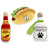 Baja Ponchos 3 Pack Fiesta Dog Chew Toy - Mexican