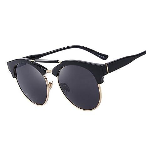 TIANLIANG04 - Gafas de Sol semirrimpias Redondas de Doble ...