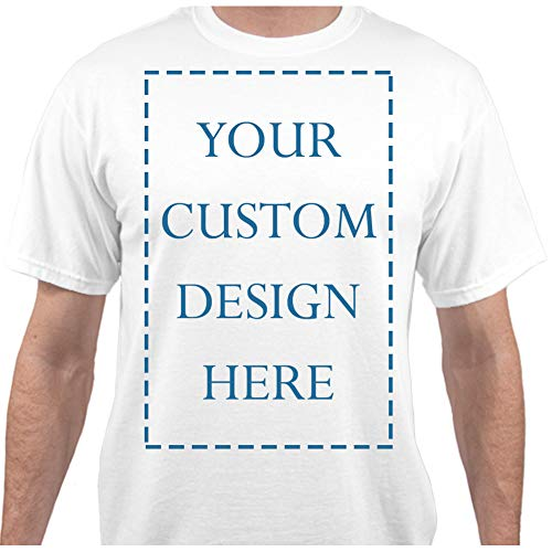 Add Your Own Custom Text Name Personalized Message or Image White T-Shirt - XLarge