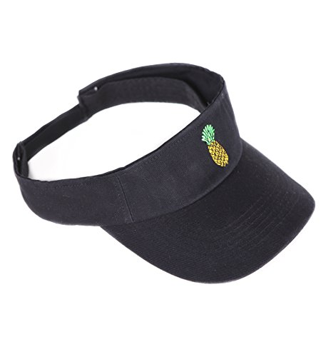 Big Bill Twill Work (Sun Visor Hat Classic Unisex 100% Cotton By Jinniee - Cool Sporting Visor With Small Embroidery - Best Visor For Running, Workouts and Outdoor Activities (Pineapple))