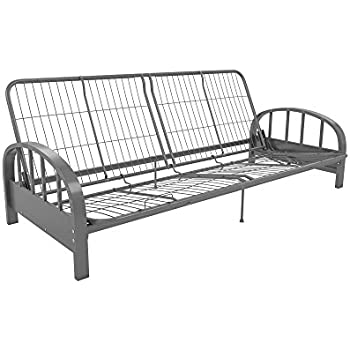 colors arm multiple metal mattress silver size futon with ip mainstays full frame baaa