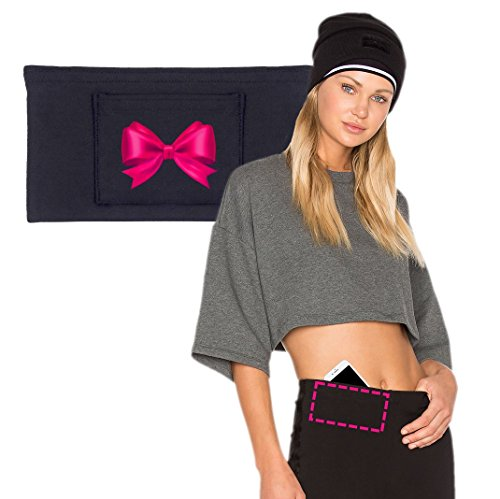- PocketLuv: Add-On Hidden Pant Pockets. For Phone, Passport, Money, Travel, Running & More. No Sewing. (2 Pack) (Large, Pink Bow)