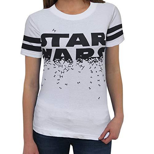 Womens Star Wars Logo White Shirt - Star Wars Girls Short Sleeve Shirt (XX-Large) -