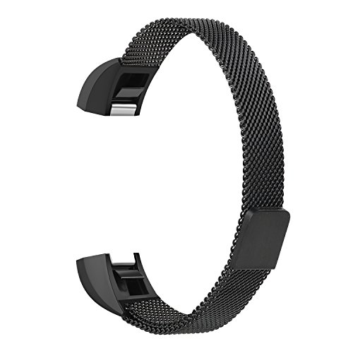 Fitbit Alta Replacement Band, MeanLove Milanese Loop Stainless Steel Metal Bands for Fitbit Alta HR and Alta Fashionable Watch Bands Top-grade Metallic Watch Strap