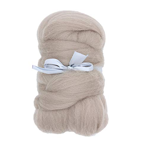 (Merino Wool Roving Top - 21um Needle Felting DIY Craft Materials (-3.5OZ) (Fog))