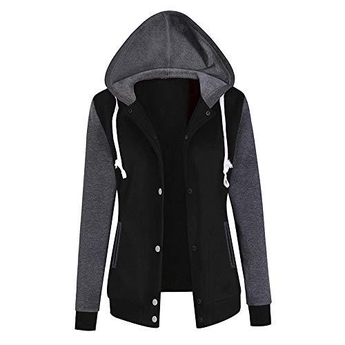 Women's Winter Hoodie Duseedik Baseball Uniform Fleece Button Up Sweatshirt Jacket Coat Outwear (Uniform Sleeveless Baseball)