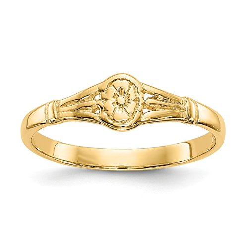 ICE CARATS 14kt Yellow Gold Oval Baby Band Ring Size 2.25 Fine Jewelry Ideal Gifts For Women Gift Set From Heart