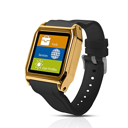 Scinex® SW30 16GB Bluetooth Smart Watch GSM Phone - US Warranty (Gold/Black)