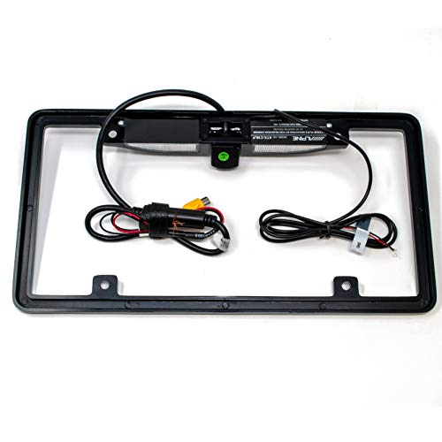 Alpine KTX-C10LP License Plate Camera Mount PCAM Rear View Camera Bundle