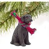 Labrador Retreiver Miniature Dog Ornament - Chocolate