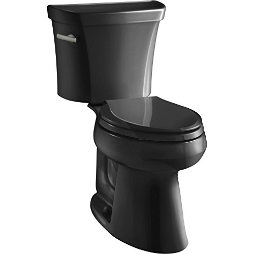 Kohler K-3999-7 Highline Comfort Height 1.28 gpf Toilet, Black Black