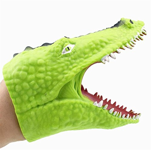 Polymer Easy to Carry Crocodile Animal Hand Puppet Baby Infant Kid Toy (Light Green) by Polymer