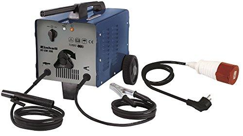 Einhell Elektroden Schweißgerät BT-EW 200 (bis 200 A, 230 V, 400 V, inkl. Masseklemme, Elektrodenhalter, Ventilatorkühlung, fahrbar, Thermowächter mit Kontrollleuchte, Adapterkabel)