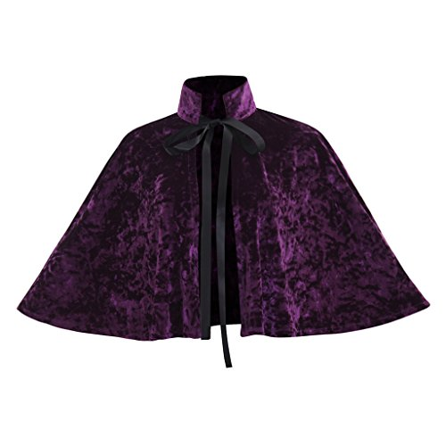 COUCOU Age Velvet Collar Shawl Short Cloak Cape