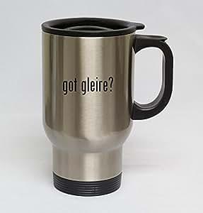 14oz Stainless Steel Silver Travel Mug - got gleire?