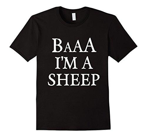 Mens Funny Sheep Halloween Costume T Shirt 2XL Black (Black Sheep Halloween Costume)