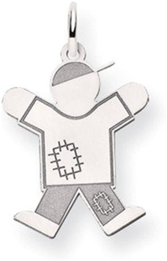 14k Gold White Gold Kid Charm Pendant (0.98 in x 0.59 in) 4194xQAgIYLUL1000_