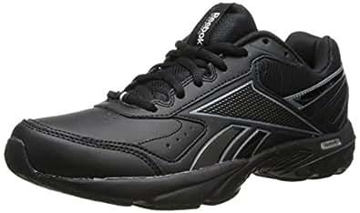 Reebok Men's Daily Cushion 2.0 RS Walking Shoe,Black/Gravel/Flat Grey,8 M US